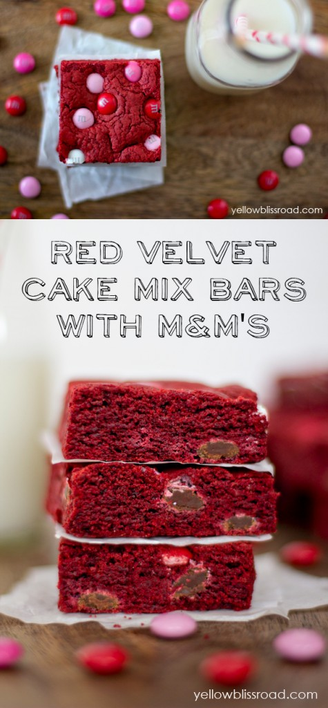 red velvet cake mix bars