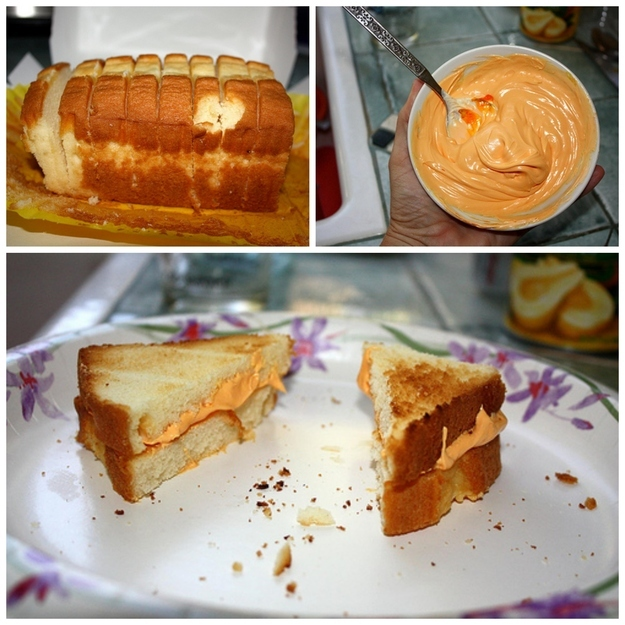 Pound Cake and Icing Grilled Cheese Sandwiches