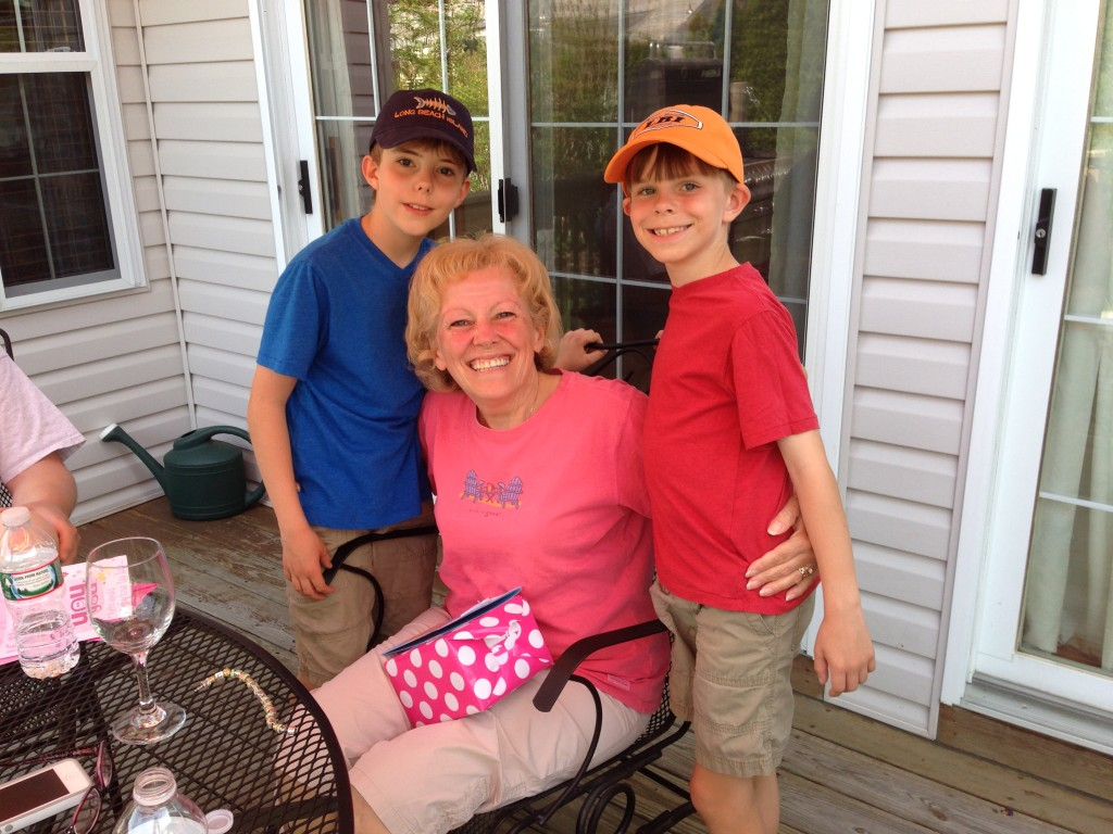 Nana and boys mothers day