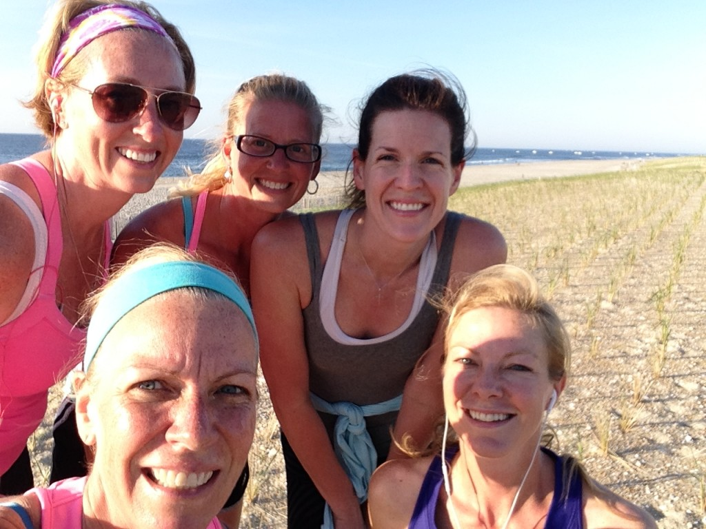 beach run selfie