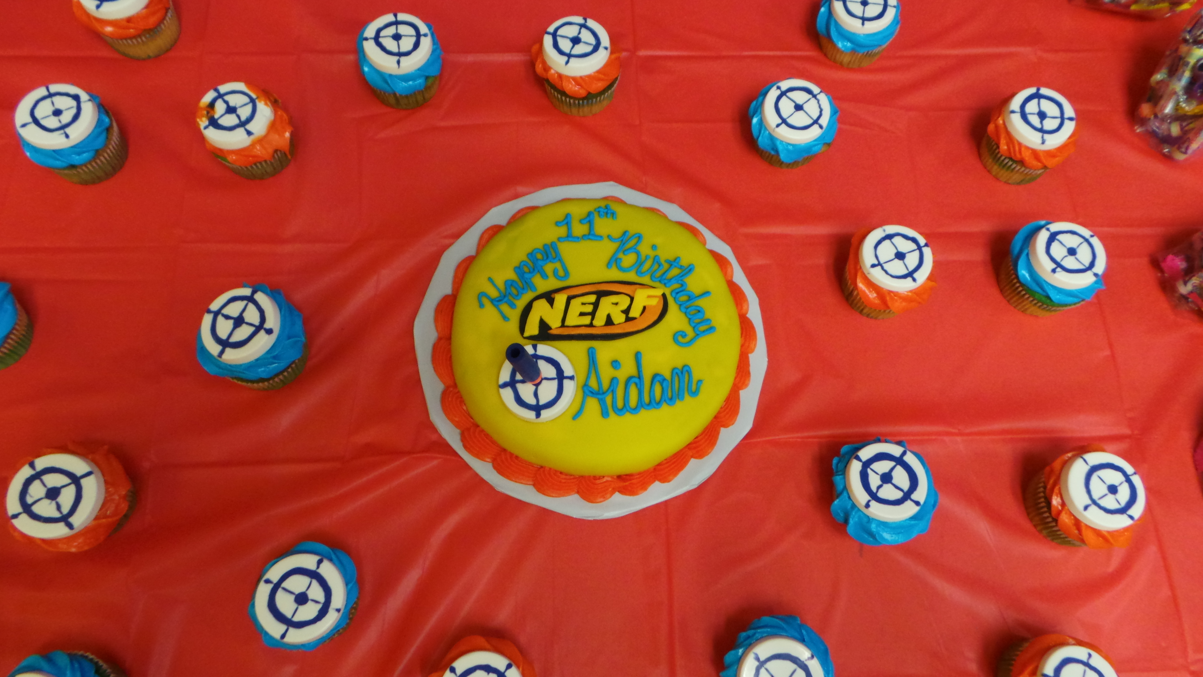 nerf target cupcakes Cashmere Miles