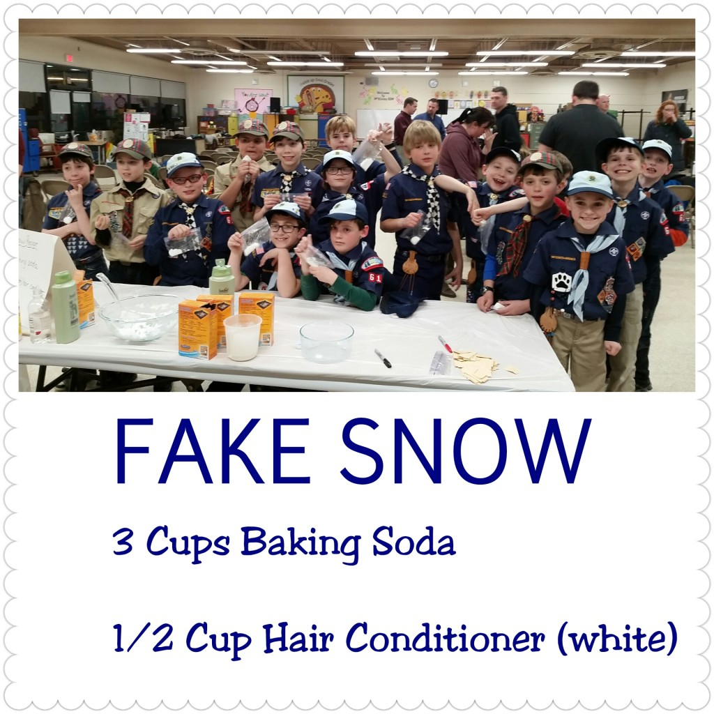 fake snow recipe
