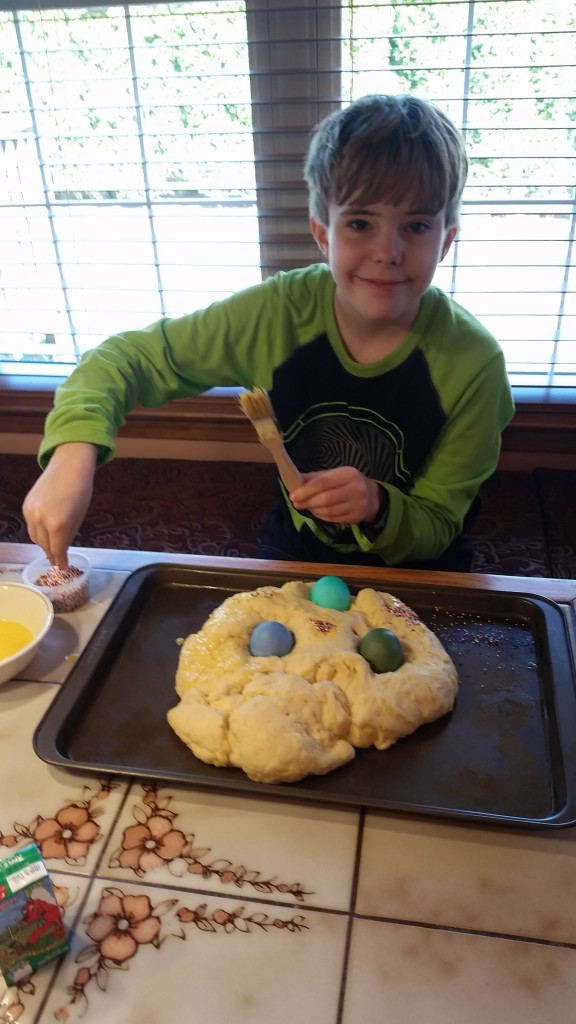 Aidan easter bread