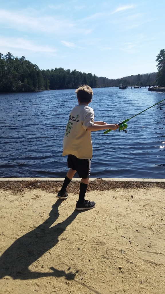 Aidan fishing