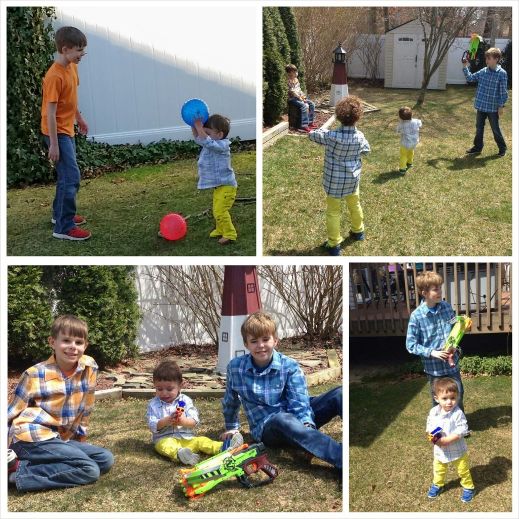 Cousins at Easter